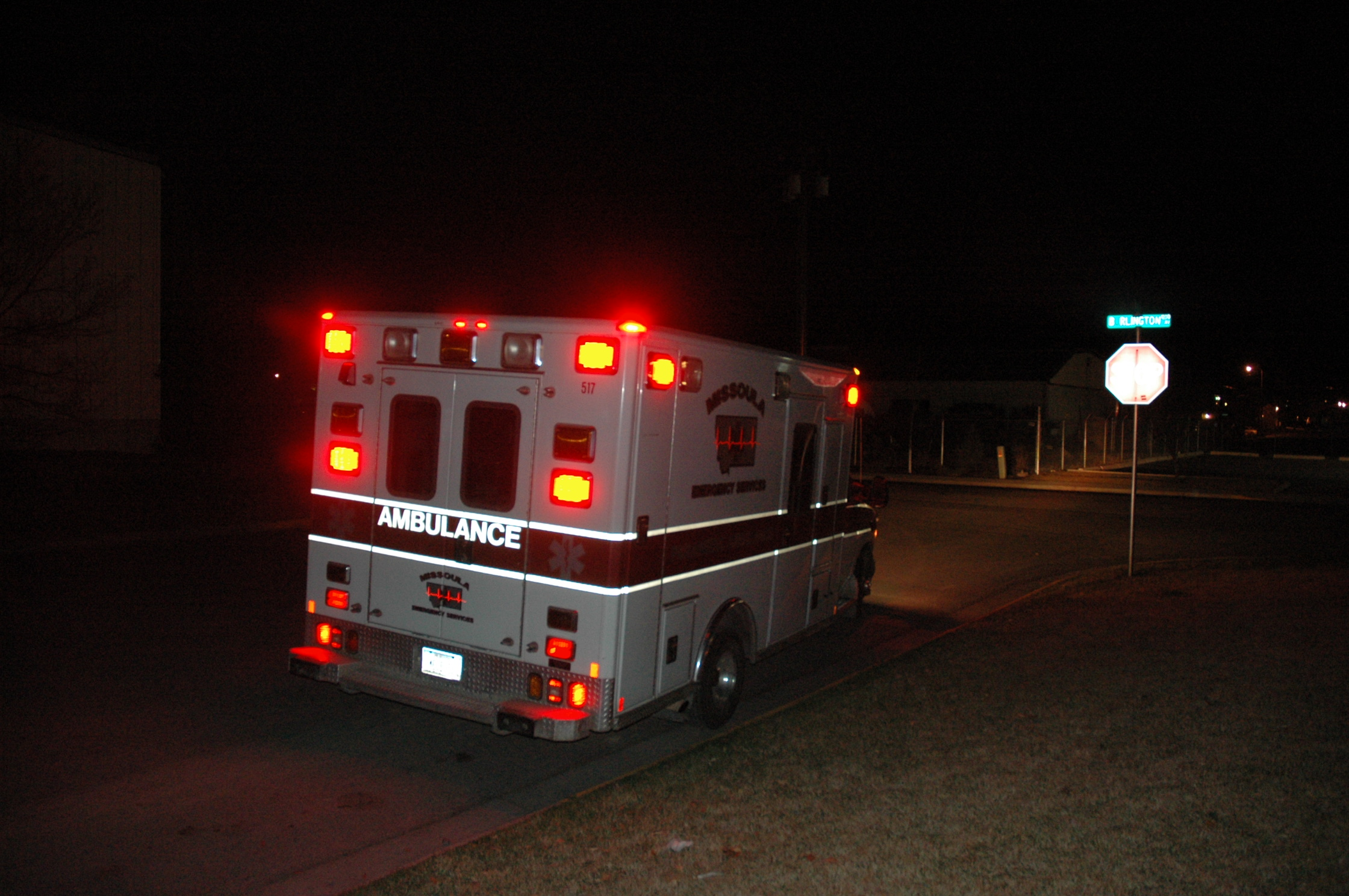 Ambulance Lights Flashing No Siren